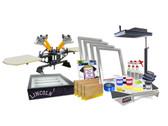 DIY 4 Color Shocker© Start-Up Screen Printing Kit with Flash Dryer & Exposure Unit