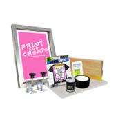 "DIY Screen Clamp Kit with ""Print N' Create"" Pre-burned Screen"