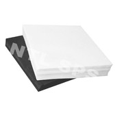 White Econo Pellon / Square 15x15""