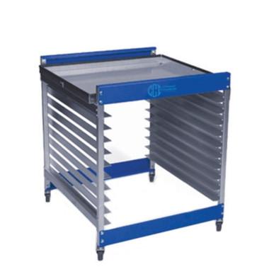 CCI Half Rack Screen Rack Cart with Tray Top