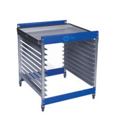 CCI Half Rack Screen Rack Cart with Tray Top