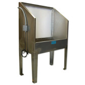 CCI E44SL Stainless Steel Washout Booth with Backlight