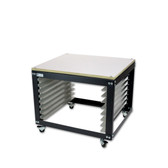 NTL Shorty Screen Cart / Rack - Wood Top Option