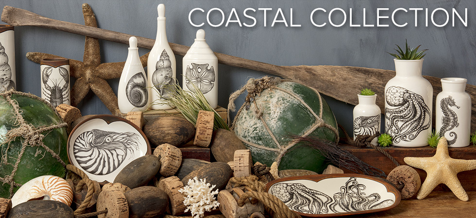 Coastal Collection Ceramic dinnerware Laura Zindel