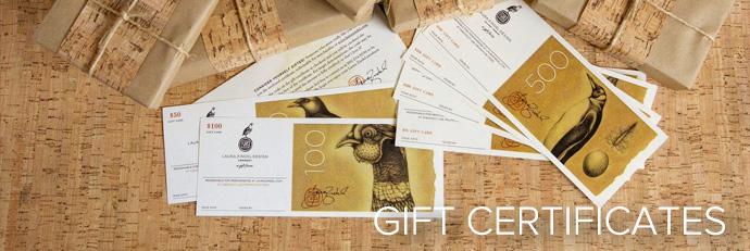 Laura Zindel Gift Certificates