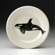 Bread Plate: Swimming Orca