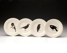 Bread Plate Set: Black Birds