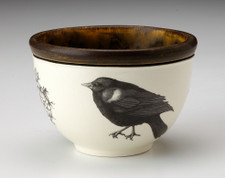 Small Round Bowl: Red-Winged Blackbird
