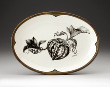Small Oval Platter: Carnival Squash