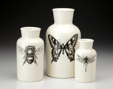 Set of 3 Jars: Butterfly, Bee and Dragonfly