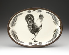 Small Oval Platter: Rooster
