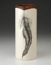Large Vase: Rooster Feather