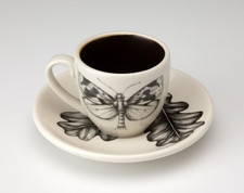 Espresso Cup and Saucer: Oak Moth