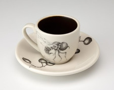 Espresso Cup and Saucer: Big Head Fly