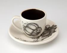 Espresso Cup and Saucer: Turban Squash