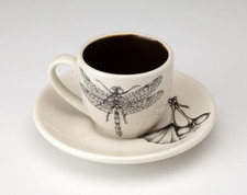 Espresso Cup and Saucer: Dragonfly