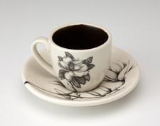 Espresso Cup and Saucer: Magnolia
