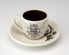 Espresso Cup and Saucer: Bumble Bee