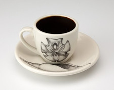 Espresso Cup and Saucer: Sand Dollar