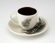 Espresso Cup and Saucer: Wood Fern