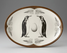 Small Oval Platter: King Penguin