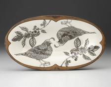 Oblong Serving Dish: Quail
