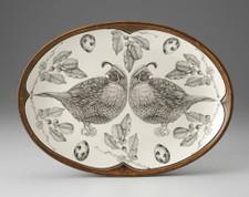 Small Oval Platter: Quail