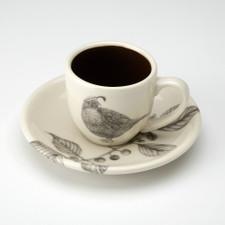 Espresso Cup and Saucer: Quail #4