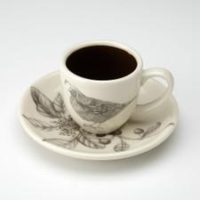 Espresso Cup and Saucer: Quail #2