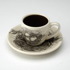 Espresso Cup and Saucer: Quail Nest