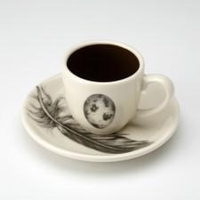 Espresso Cup and Saucer: Quail Egg