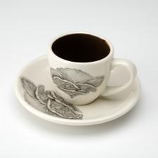 Espresso Cup and Saucer: Shelf Mushroom
