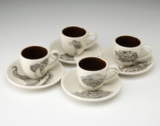 Espresso Set of 4: Mushrooms