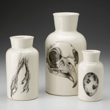 Set of 3 Jars: Owl Skull
