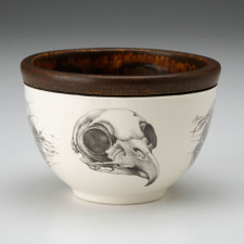 Small Round Bowl: Owl Skull