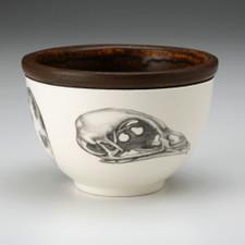 Small Round Bowl: Quail Skull