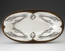 Oblong Serving Dish: Quail Feet