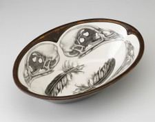 Large Serving Dish: Quail Skull
