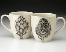 Mug: Artichoke - front & back views