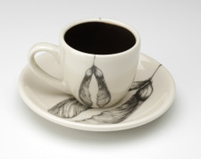Espresso Cup and Saucer: Maple Seed
