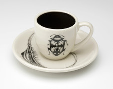 Espresso Cup and Saucer: Beetle #1