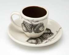 Espresso Cup and Saucer: Double Acorn