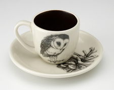 Espresso Cup and Saucer: Barn Owl