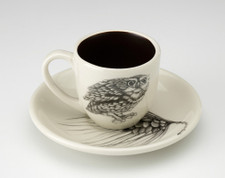 Espresso Cup and Saucer: Screech Owl #2
