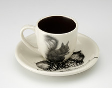 Espresso Cup and Saucer: Squirrel