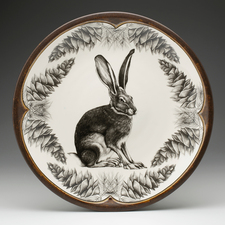Large Round Platter: Sitting Hare