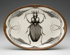 Small Oval Platter: Ground Beetle