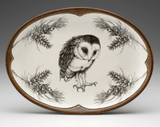 Small Oval Platter: Barn Owl