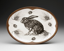 Small Oval Platter: Crouching Hare
