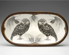 Rectangular Serving Dish: Burrowing Owl